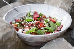 Green Kitchen Stories » Maple Tossed Rhubarb & Puy Salad