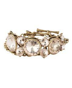 Crystal + Chain Bracelet (Fossil via Macy's) $33.99