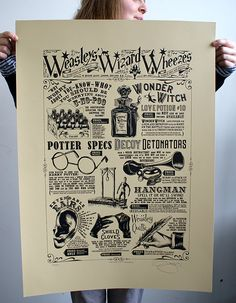 """Harry Potter """"Weasley's Wheezes' Hand Pulled Limited Edition Screen Print by BarryDBulsara on Etsy Theme Harry Potter, Harry Potter Love, Expecto Patronum Harry Potter, Science Fiction, Anniversaire Harry Potter, Mischief Managed, Hogwarts, Screen Printing, 3d Printing"""