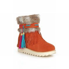 Carol Shoes Comfort Women's Cute Tassels Faux Fur Pendant Fashion Flat Snow Boots -- To view further for this item, visit the image link.