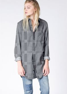 Constructed in epically soft and cozy brushed cotton, this cheeky spin on a buffalo check is unlike anything in your wardrobe. Trust us, the second you feel this comfy design you'll never want to take it off.