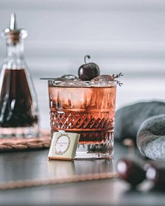 A Ron de Jeremy XXXO Old Fashioned 😍🍒 by Truffles On The Rocks  Rest of Ingredients: - Cherry bark - Vanilla bitters - Creme de cacao.