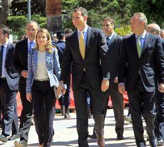 Los Príncipes de Asturias vistaron el Hospital General de Valencia, en V centenario. 17 de abril 2012