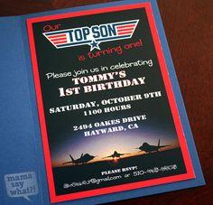 TJ's Top Gun 1st Birthday Party