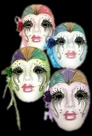 Ceramic Masks.  I love, love, love these!  They are my addiction  :)