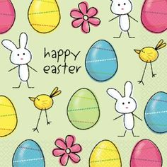 Easter Fun Napkins - Pack of 20 - Easter Tableware Decorations Ideas