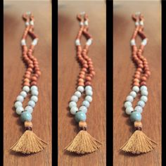 TRUTH 108 Bead Fragrant Sandalwood Mala with by TempleAdornment