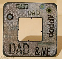 Father's Day Dad and me Picture frame by RebelsPlace on Etsy