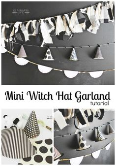 mini witch hat garland. This is adorable! love it.