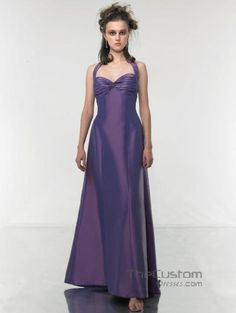 A-line Halter Ankle-length Taffeta Bridesmaid Dresses 114MT8757