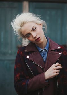 Burgundy biker jacket. We're into it! #RocketDog #Style
