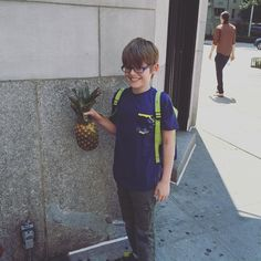 This kid finds pineapples everywhere.