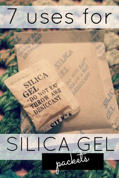 7 ways to reuse those little silica gel packets which come in everything from handbags to dog food.