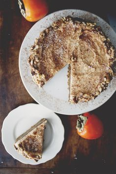 SPICED PERSIMMON CAKE WITH BROWN SUGAR CREAM CHEESE FROSTING