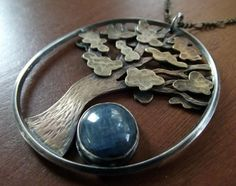 Tree Necklace with Kyanite by ~MoonLitCreations on deviantART