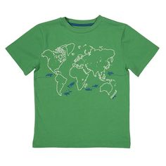 Kite fairtrade Tshirt wereldkaart   EKO de PEKO = bio + fair + duurzaam