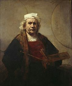Rembrandt – Self-Portrait with Two Circles, 1665, oil on canvas