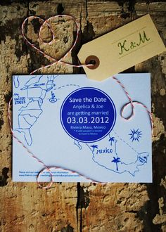 Save the Date Wedding Map for a Destination by jackandjillwedding, $3.00