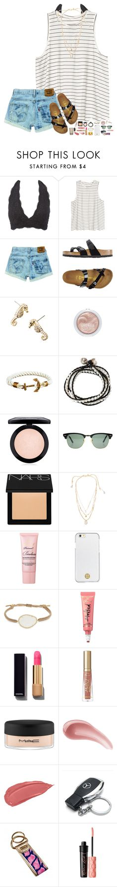 """""""your lies are bullets, your mouth's the gun..."""" by hopemarlee ❤ liked on Polyvore featuring Charlotte Russe, Birkenstock, Lilly Pulitzer, NOVICA, MAC Cosmetics, Ray-Ban, NARS Cosmetics, Chan Luu, Too Faced Cosmetics and Tory Burch"""
