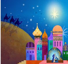 Album 2 « Gallery 14 « Christmas (by category) « Jan Pashley – Illustration / Design Christmas Nativity, Christmas Love, Christmas Pictures, Christmas Drawing, Christmas Paintings, Idees Cate, Three Wise Men, Sunday School Crafts, Islamic Art Calligraphy