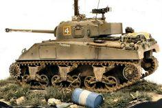 Sherman Firefly IC by Martin Korbelik Plastic Model Kits, Plastic Models, Sherman Firefly, Us Armor, Rc Tank, Sherman Tank, Military Armor, Model Tanks, Armored Fighting Vehicle