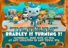 Octonauts Invite Octonauts Invitations Octonauts Invites Birthday
