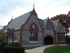 Adams Academy building in Quincy, Massachusetts, built in 1869