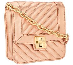 Isaac Mizrahi Live! Bridgehampton Lamb Leather Crossbody
