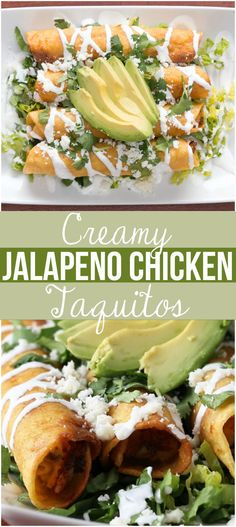 Creamy Jalapeno Chicken Taquitos | Start The Week Off Right With These Creamy Jalapeño Chicken Taquitos For An Easy Dinner