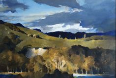 Peter McIntyre is one of New Zealand's most famous artists due to the ever popular presence of his books in the private libraries of New Zealand families. Impressionist Paintings, Landscape Paintings, Landscapes, New Zealand Landscape, New Zealand Art, Most Famous Artists, Nz Art, King And Country, Country Landscaping