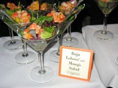 Wedding Food Stations | delicious lobster salad from catering with elegance