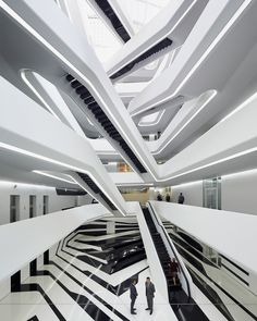 zaha hadid organizes moscow's dominion office building around central atrium