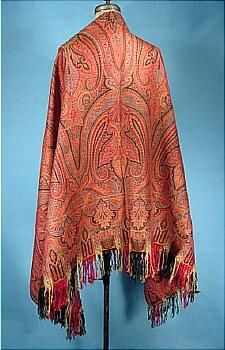for 100 years from 1770-1870 it was the paisley shawl that was in fashion! The reached the height of popularity in the mid-1800s when the skirt became huge...