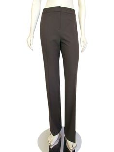 Lafayette 148 New York Brown Stretch Wool Pants