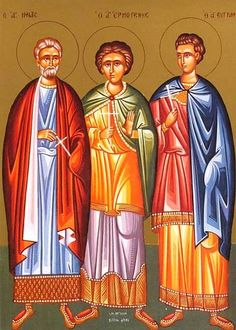 The Holy Martyrs Menas, Hermogenes and Eugraphus    December 10 / December 23