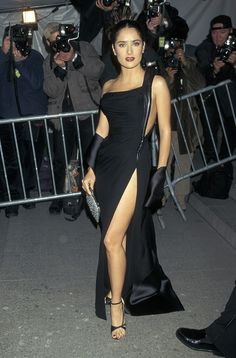Salma Hayek in Gianni Versace at the Met Gala, 1997