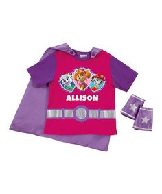 Love this Pink & Purple PAW Patrol Pup Power Personalized Tee & Cuffs - Toddler & Kids on #zulily! #zulilyfinds