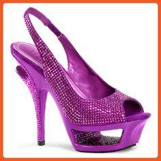 Pleaser Women's Deluxe-654RS/PPS Slingback Sandal - Sandals for women (*Amazon Partner-Link)