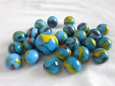 25 SERPENT Glass Marbles
