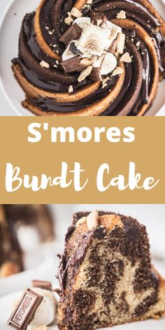 Looking for the perfect summer dessert? A sweet s'mores bundt cake that swirls graham cracker and chocolate batter in one pan! Mini Desserts, Easy No Bake Desserts, Cheesecake Desserts, Homemade Desserts, Summer Desserts, Delicious Desserts, Plated Desserts, Food Cakes, Cupcake Cakes