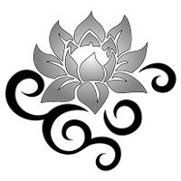 Strength and beauty lotus tattoo flash