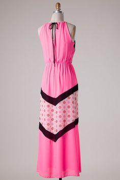 Nella Maxi Dress - Nobella Grace Boutique! Flattering keyhole back #nobellagrace #keyhole #maxidress #details
