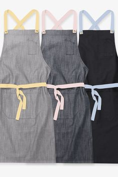 With Summer fast approaching, we're feeling the need to break out the pastel straps again!💛💙💕 With Banana, Soft Pink and Sky Blue pastel apron straps (or any of our 13 strap colour options!) our Choose Your Strap Apron range make personalising your uniform look a cinch!🙌 Beauty Salon Uniform Ideas, Beauty Room Salon, Hair Salon Interior, Beauty Studio, Nail Salon Design, Nail Salon Decor, Beauty Salon Design, Beauty Therapist Uniform, Salon Aprons
