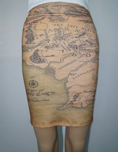 Lord of the Rings Middle Earth knit skirt  by NerdAlertCreations