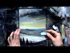 Aleksandr Alyonin: art chalk pastels drawing HOW TO DRAW LANDSCAPE Tutorial - YouTube
