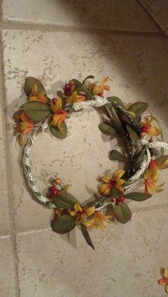 DIY Flower Head Wreath