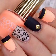 Matte black and coral