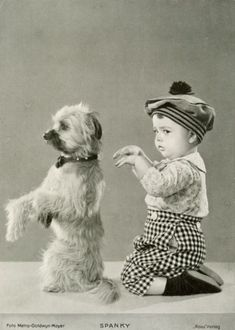 dog and Spanky strike a pose. I ran across a picture of my Dad when he was a boy. He looked just like Spanky!A dog and Spanky strike a pose. I ran across a picture of my Dad when he was a boy. He looked just like Spanky! Images Vintage, Photo Vintage, Vintage Pictures, Old Pictures, Old Photos, Animal Pictures, Animals Photos, Funny Pictures, Vintage Humor