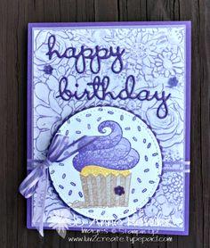 Hello Cupcake swap by Jo Anne Hewins Vintage Birthday Cards, Handmade Birthday Cards, Card Birthday, Birthday Wishes, Card Making Tutorials, Making Ideas, Cupcake Card, Cupcake Ideas, Card Sentiments
