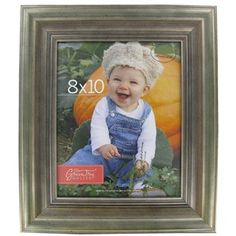 "Green Tree Gallery 8"" x 10"" Green & Silver Traditional Picture Frame 